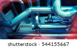 ventilation pipes of an air... | Shutterstock . vector #544155667