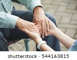 close up image of nurse holding ... | Shutterstock . vector #544163815