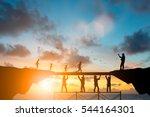 silhouette  team responsible... | Shutterstock . vector #544164301