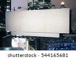 empty white billboard on modern ... | Shutterstock . vector #544165681