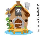 Witches Hut. Cartoon...