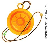 magic round locket.... | Shutterstock .eps vector #544167271