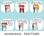 lover  groom and bride sweet... | Shutterstock .eps vector #544171681