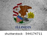 Small photo of graphic american state grunge flag of illinois