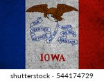 Small photo of graphic american state grunge flag of iowa