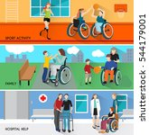 disabled people horizontal... | Shutterstock .eps vector #544179001