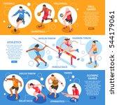 sportsmen isometric horizontal... | Shutterstock .eps vector #544179061
