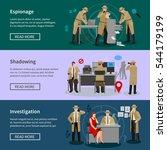 detective spy horizontal... | Shutterstock .eps vector #544179199