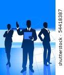 business team on global economy ... | Shutterstock .eps vector #54418387