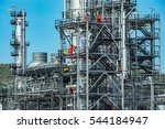 close up industrial view at oil ... | Shutterstock . vector #544184947