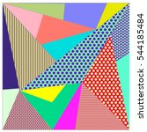 abstract modern triangles... | Shutterstock .eps vector #544185484