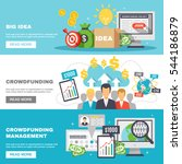 crowdfunding horizontal banners ... | Shutterstock .eps vector #544186879