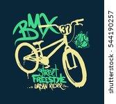 bmx t shirt graphics. extreme... | Shutterstock .eps vector #544190257
