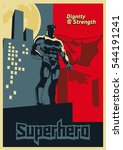 superhero looks into the... | Shutterstock .eps vector #544191241