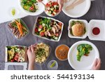 convenient takeaway takeout... | Shutterstock . vector #544193134