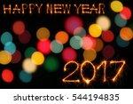 happy new year 2017 text...   Shutterstock . vector #544194835