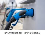 electric vehicle charging... | Shutterstock . vector #544195567