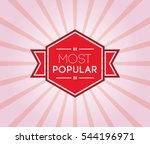 most popular poster. promotion... | Shutterstock .eps vector #544196971