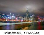 night view of hong kong island... | Shutterstock . vector #544200655