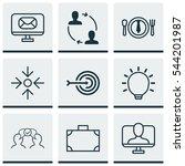set of 9 business management... | Shutterstock .eps vector #544201987