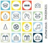 set of 16 celebration icons.... | Shutterstock .eps vector #544204321