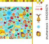 matching game for children... | Shutterstock . vector #544205074