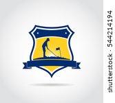junior golf academy template... | Shutterstock .eps vector #544214194