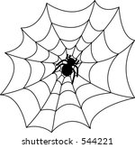 spider and web | Shutterstock .eps vector #544221