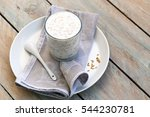 healthy eating yogurt with flax ... | Shutterstock . vector #544230781