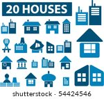 20 houses signs. vector | Shutterstock .eps vector #54424546