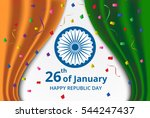 happy indian republic day... | Shutterstock .eps vector #544247437