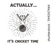 retro cricket club emblem... | Shutterstock .eps vector #544247464