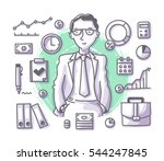 businessman manager or... | Shutterstock .eps vector #544247845