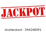 jackpot grunge rubber stamp on... | Shutterstock .eps vector #544248391