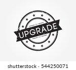 upgrade. black stamp sign | Shutterstock .eps vector #544250071
