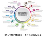 business infographic template | Shutterstock .eps vector #544250281
