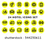 hotel services   icon set | Shutterstock .eps vector #544250611
