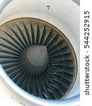 Small photo of Turbojet aircraft engine