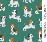 vector seamless pattern with... | Shutterstock .eps vector #544255171