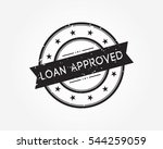loan approved stamp rubber   Shutterstock .eps vector #544259059