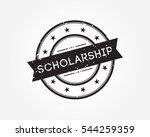 scholarship. stamp rubber   Shutterstock .eps vector #544259359
