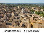 Old City In Tuscany In Aerial...