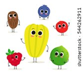 adorable collection of six... | Shutterstock .eps vector #544262911