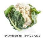 Cauliflower Isolated On White...
