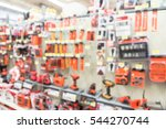 blurred variety of power tools... | Shutterstock . vector #544270744