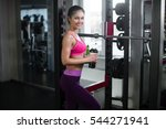 young fitness woman tired in... | Shutterstock . vector #544271941