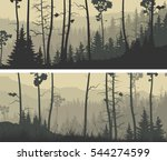 set of horizontal wide banners... | Shutterstock .eps vector #544274599
