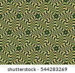 decorative floral seamless... | Shutterstock . vector #544283269
