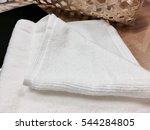 white towel on table   Shutterstock . vector #544284805
