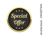 gold black special offer round... | Shutterstock .eps vector #544287544